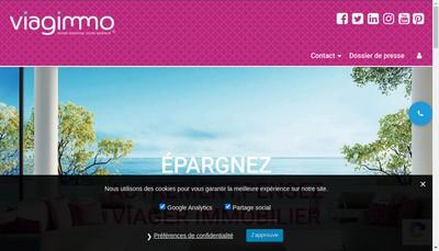 Site internet de Viagimmo Bordeaux