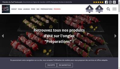 Site internet de Viandes du Sud Toulousain