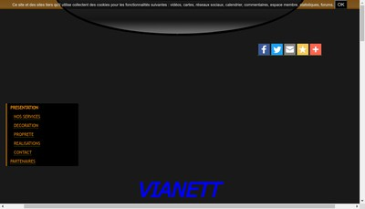 Site internet de Vianett