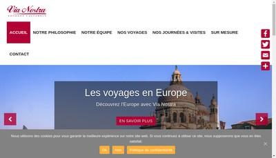 Site internet de Via Nostra