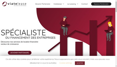 Site internet de Viatelease
