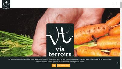 Site internet de Via Terroirs