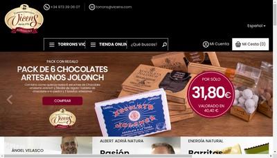 Site internet de Torrons Vicens