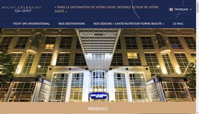 Site internet de Vichy Spa International