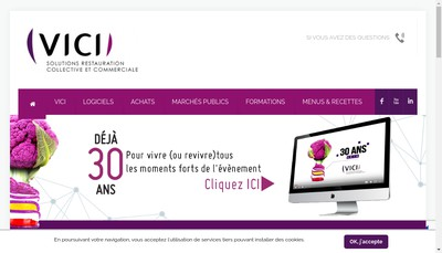Site internet de Vici Gestion Commerce