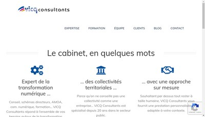 Site internet de Vicq Consultants