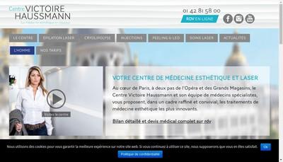 Site internet de Centre Victoire Haussmann