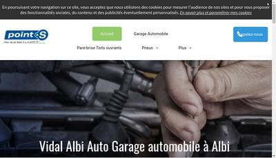 Site internet de Vidal Albi Auto Cass