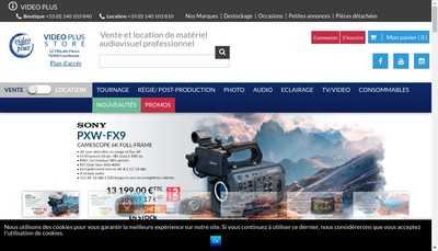 Site internet de Video Plus