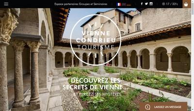 Site internet de Office de Tourisme de Vienne Condrieu Agglomeration