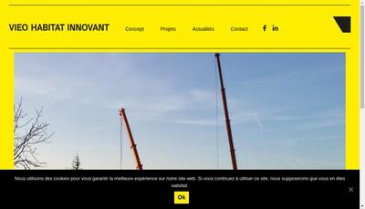 Site internet de Vieo Habitat Innovant