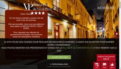Site internet de Hotel du Vieux Paris SNC