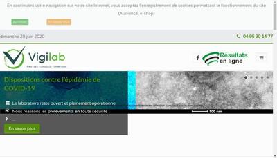 Site internet de Vigilab