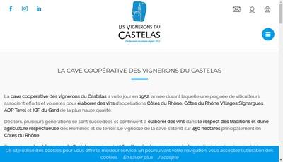 Site internet de Les Vignerons du Castelas