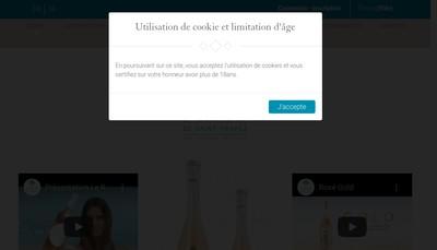 Site internet de Les Maitres Vigneron St Tropez