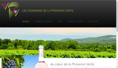 Site internet de Les Vignerons de la Provence Verte