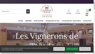 Site internet de SCA les Vignerons de Taradeau