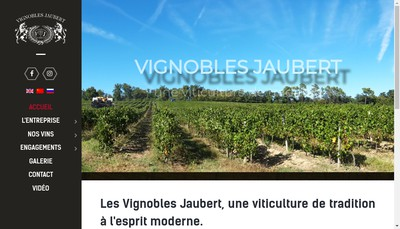 Site internet de Vignobles Jaubert