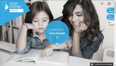 Site internet de Sag Vigny Depierre Assurances