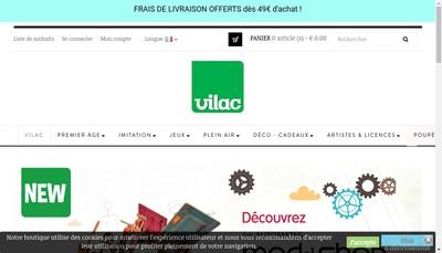Site internet de Vilac SA