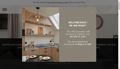 Site internet de Pepper&Paper Apartments