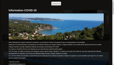 Site internet de Villa Fabregas