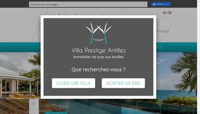 Site internet de Villa Prestige Antilles