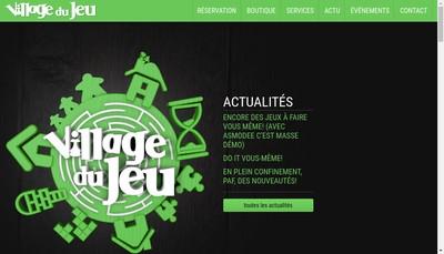 Site internet de Village du Jeu
