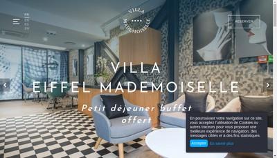 Site internet de Villa Mademoiselle