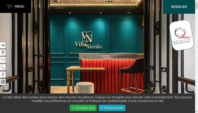 Site internet de Villa Nicolo