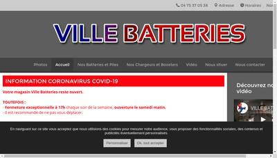 Site internet de Ville Batteries
