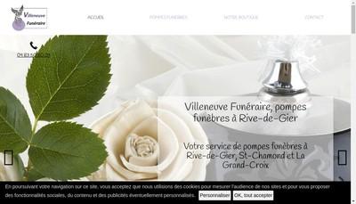 Site internet de Villeneuve Funeraire