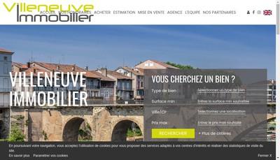 Site internet de Villeneuve Immobilier