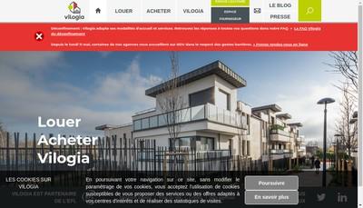 Site internet de Vilogia Premium Grand Est