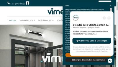 Site internet de Vimec France Accessibilite