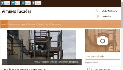 Site internet de Vimines Facades
