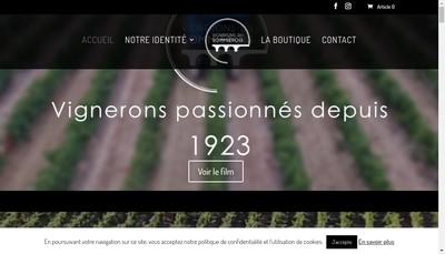 Site internet de Caveau des Vignerons du Sommierois