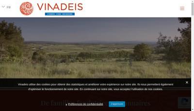 Site internet de Vinadeis Bio