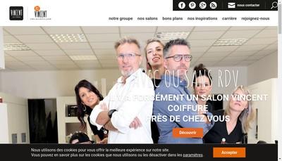 Site internet de Vincent Coiffure