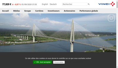 Site internet de Vinci Innovation