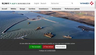 Site internet de Vinci Concessions Ep