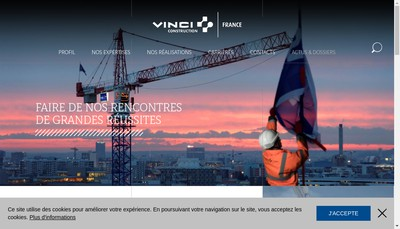Site internet de Vcf Habitat Idf