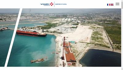 Site internet de Vinci Construction Maritime et Fluvial