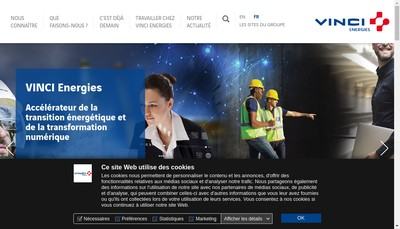 Site internet de Vinci Energies Systemes d'Information