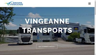 Site internet de Vingeanne Transports