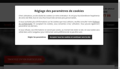 Site internet de Vinotheque du Lys SARL
