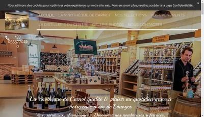 Site internet de La Vinotheque de Carnot