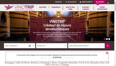 Site internet de Vinotrip