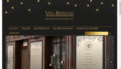 Site internet de SARL Vins Bertrand
