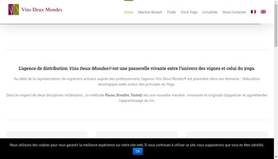 Site internet de Vins Deux Mondes